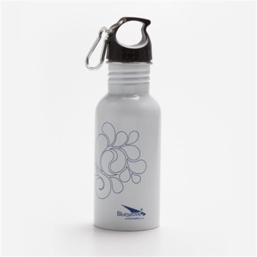 Bluewave Lifestyle BPA Free Stainless Steel Droplet Sports Bottle, Winter White Perspective: front