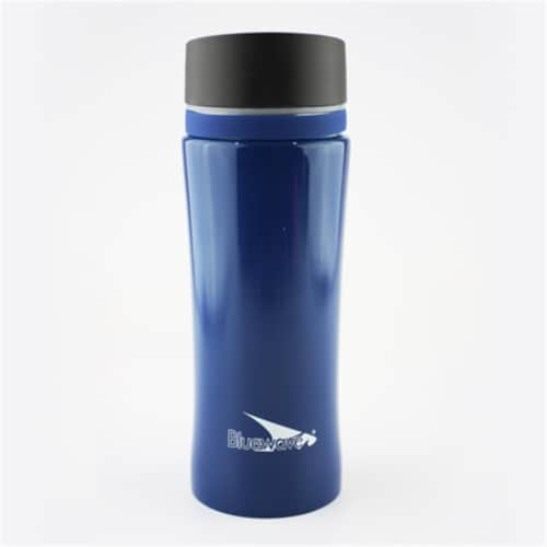 Bluewave Lifestyle D2 Double Wall Stainless Steel Insulated Tumbler Mug, Navy Blue Perspective: front