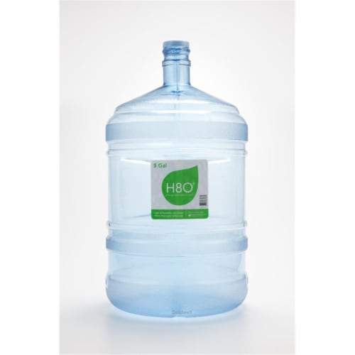 H8O PC58GH-48 5 gal Water Bottle with Handle & 48 mm Cap - Polycarbonate Plastic Perspective: front