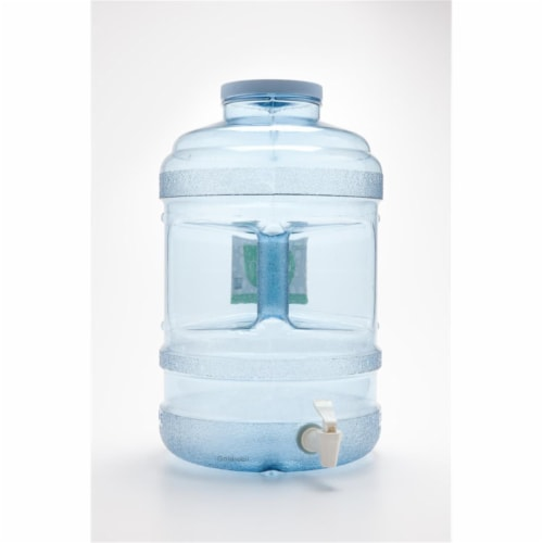 H8O 5 gal Water Bottle with 120 mm Big Mouth & Dispensing Valve Perspective: front