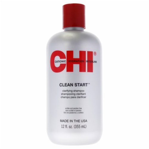CHI Clean Start Clarifying Shampoo 12 oz Perspective: front