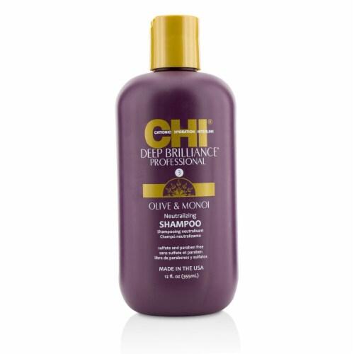 """""CHI Deep Brilliance Olive & Monoi Neutralizing Shampoo 355ml/12oz"""" Perspective: front"