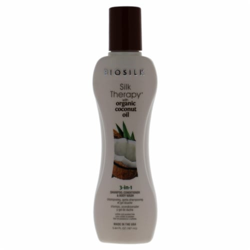 BioSilk Silk Therapy with Coconut Oil 3In1 Shampoo, Conditioner and Body Wash 5.64 oz Perspective: front