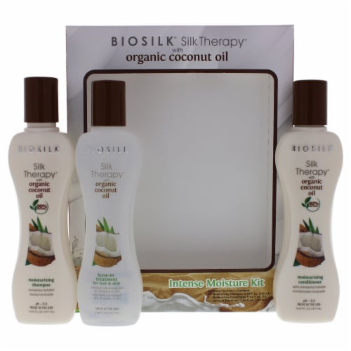 Silk Therapy With Organic Coconut Intense Moisture Kit Perspective: front