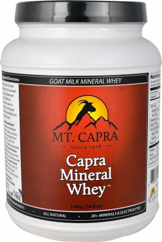 Mt. Capra Products  Capra Mineral Whey™ Powder Perspective: front