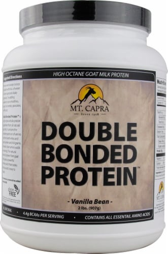 Mt. Capra Products  Double Bonded Goat Milk Protein   Vanilla Bean Perspective: front