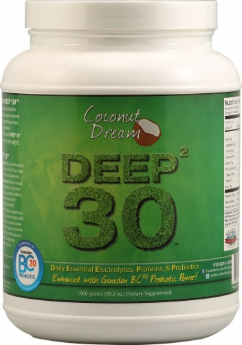 Mt. Capra Products  Deep2 30™ Goat Milk Protein   Coconut Dream Perspective: front
