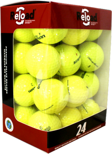 Reload Recycled Optic Golf Balls - 24 Pack - Yellow Perspective: front