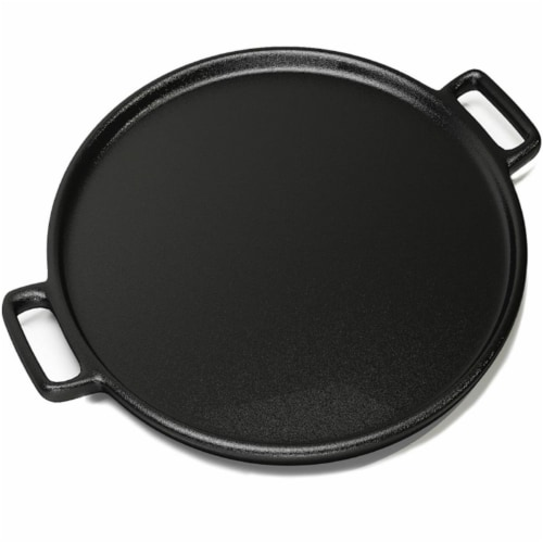 Home-Complete 14 in. Cast Iron Pizza Pan Perspective: front