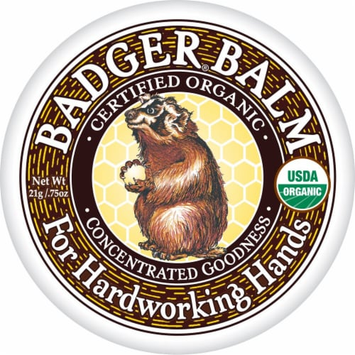 Badger Balm Organic For Hardworking Hands Lotion Perspective: front