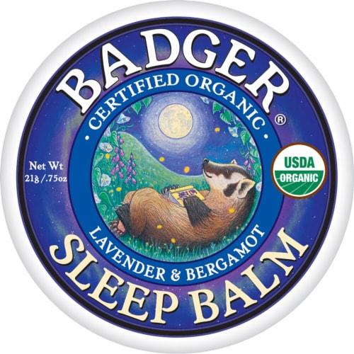 Badger Organic Lavender and Bergamot Sleep Balm Perspective: front