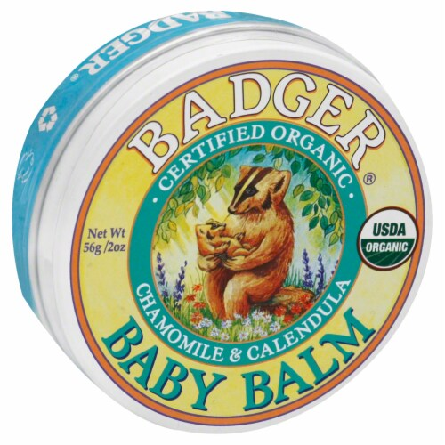 Badger Organic Chamomile & Calendula Baby Balm Perspective: front