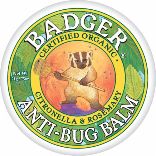 Badger  Organic Anti Bug Balm Citronella and Rosemary Perspective: front