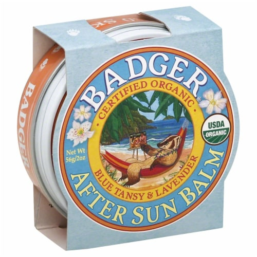 Badger After Sun Balm Blue Tansy & Lavender Perspective: front