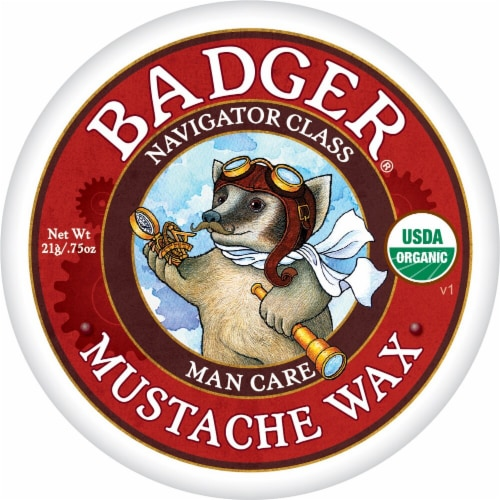 Badger  Navigator Class Man Care Mustache Wax Perspective: front