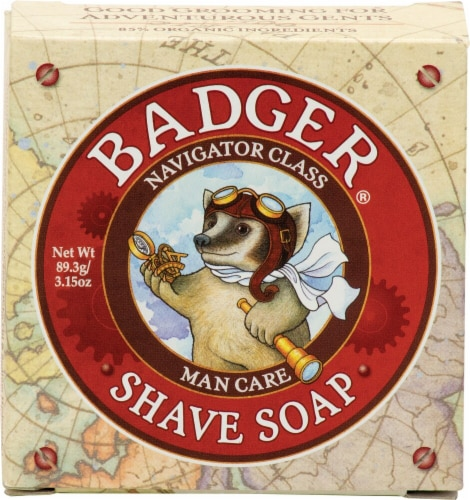 Badger  Navigator Class Man Care Shave Soap Perspective: front
