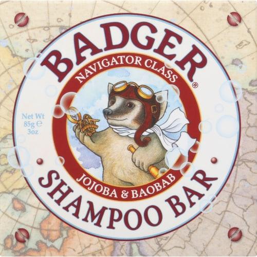 Badger Jojoba & Baobab Shampoo Bar Perspective: front