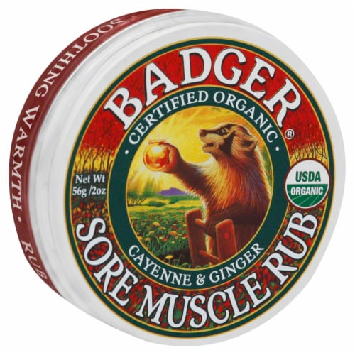 Badger Sore Muscle Rub Perspective: front