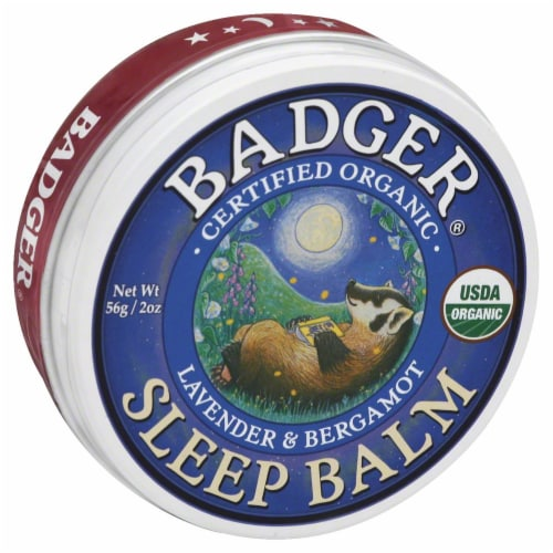 Badger Sleep Lip Balm Perspective: front