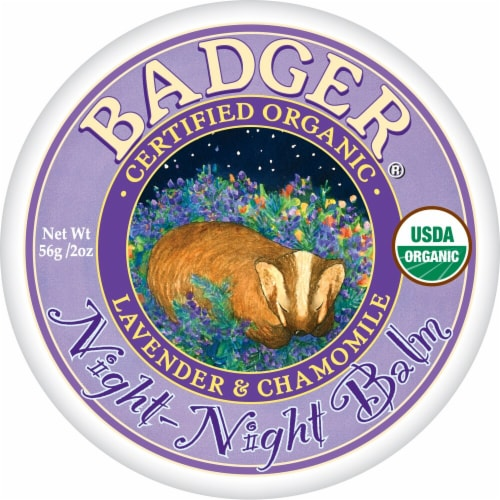 Badger Organic Lavender & Chamomile Night Night Balm Perspective: front