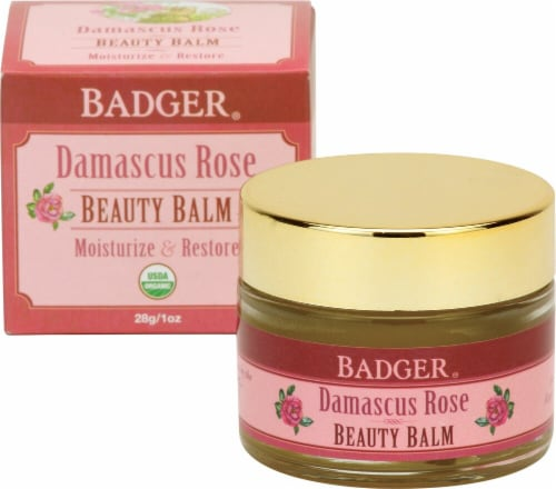Badger Damascus Rose Organic Beauty Balm Perspective: front