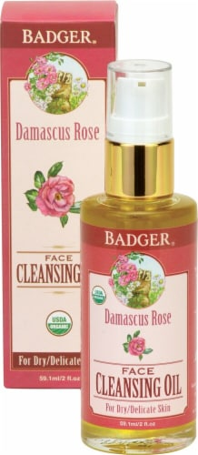 Badger   Damascus Rose Face Cleanisng Oil Perspective: front
