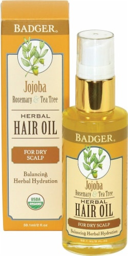 Badger  Jojoba Rosemary & Tea Tree Herbal Hair Oil Perspective: front