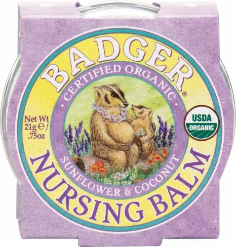 Badger Organic Sunflower & Coconut Nursing Balm Perspective: front