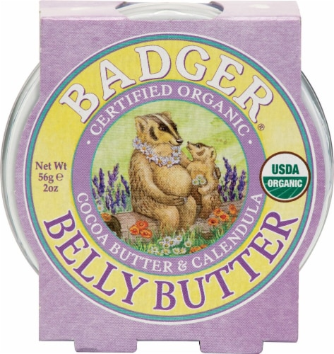 Badger  Belly Butter Cocoa Butter & Calendula Perspective: front