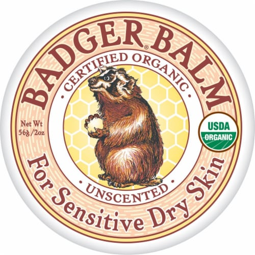 Badger Unscented Healng Balm Perspective: front