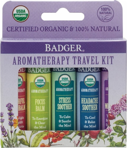Badger  Aromatherapy Travel Kit 5 Pack Perspective: front