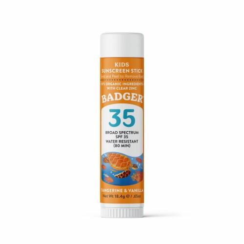 Badger Kids All Season Sunscreen Stick SPF 35 Perspective: front