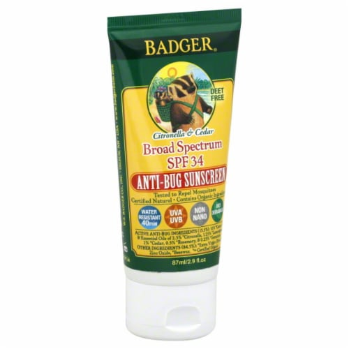 Badger Anti-Bug Sunscreen SPF 34 Perspective: front