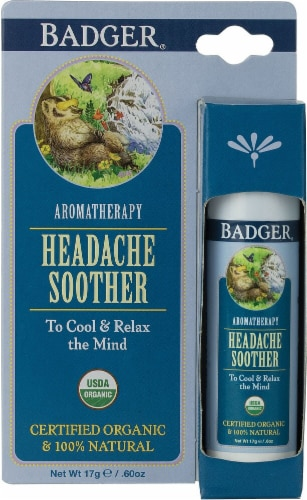 Badger  Aromatherapy Headache Soother Perspective: front