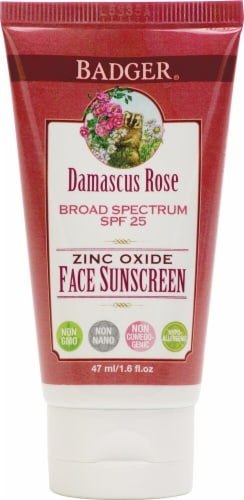 Badger Damascus Rose Face Sunscreen Lotion SPF 25 Perspective: front