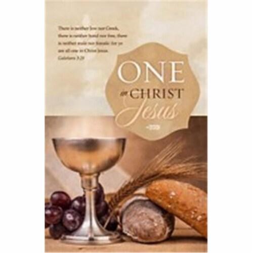 B & H Publishing Group 197692 Galatians 3-28 KJV One in Christ Jesus Communion Bulletin, Pack Perspective: front