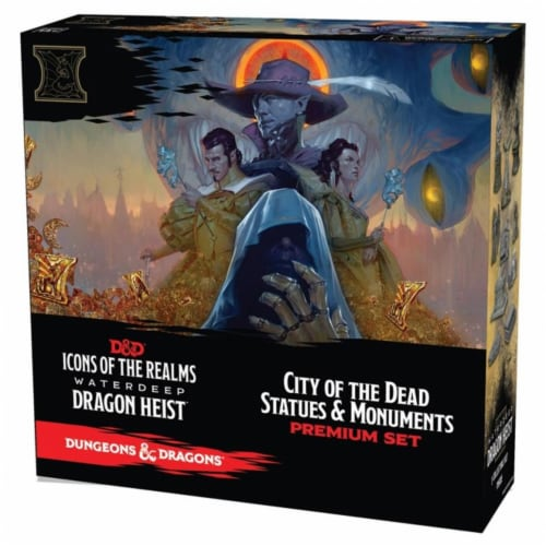 WizKids WZK73112 Dungeons & Dragons IR9 WD Dragon Heist City ot Dead Miniatures Perspective: front