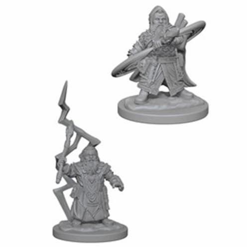 Wizkids WZK73188 Pathfinder Deep Cuts Miniaturess of Dwarf Male Sorcerer W4 Perspective: front
