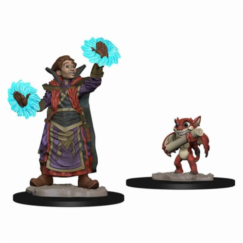 WizKids WZK73318 Boy Wizard & Imp Miniatures Pre-Painted Minis Wardlings Perspective: front