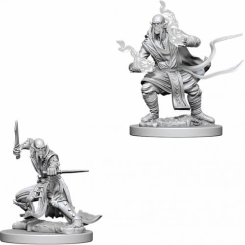 WizKids Dungeons & Dragons Nolzurs Marvelous Unpainted Githzerai W5 Miniature Perspective: front