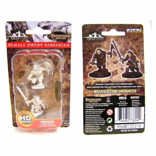 WizKids WZK73694 Pathfinder Battles Deep Cuts Female Dwarf Barbarian W8 Miniatures Perspective: front