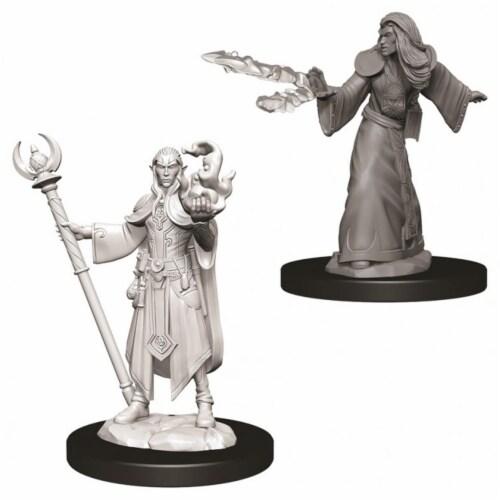 WizKids Dungeons & Dragons Nolzurs Marvelous Male Elf Wizard W9 Miniature Perspective: front
