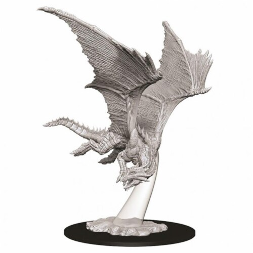 WizKids WZK73710 Dungeons & Dragons Nolzurs Marvelous Young Bronze Dragon W9 Miniature Perspective: front