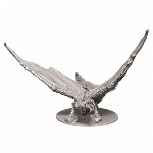 WizKids WZK73711 Dungeons & Dragons Nolzurs Marvelous Young Brass Dragon W9 Miniature Perspective: front