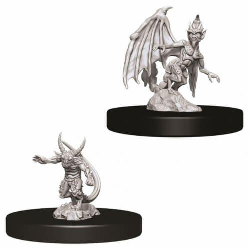 WizKids Dungeons & Dragons Nolzurs Marvelous Quasit & Imp W9 Miniature Perspective: front