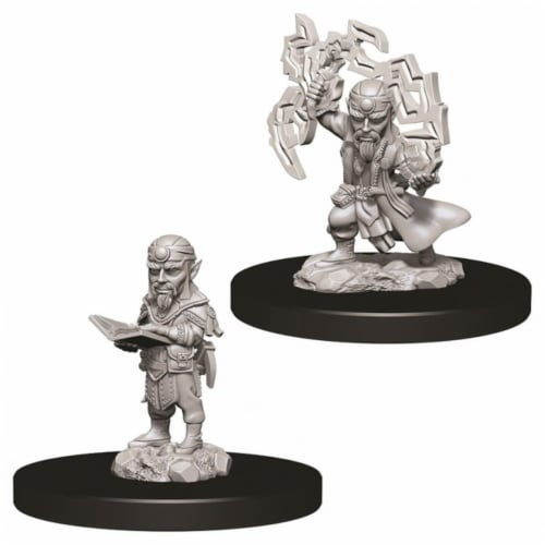 WizKids WZK73722 Pathfinder Battles Deep Cuts Male Gnome Sorcerer W9 Miniature Perspective: front