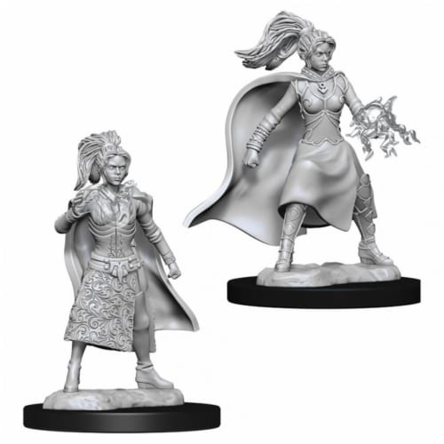 WizKids Dungeons & Dragons Nolzurs Marvelous-Female Human Sorcerer W10 Miniature Perspective: front