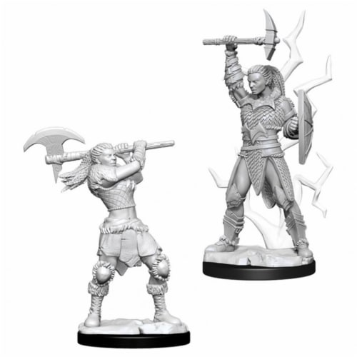 WizKids WZK73834 Dungeons & Dragons Nolzurs Marvelous-Female Goliath Barbarian W10 Miniature Perspective: front