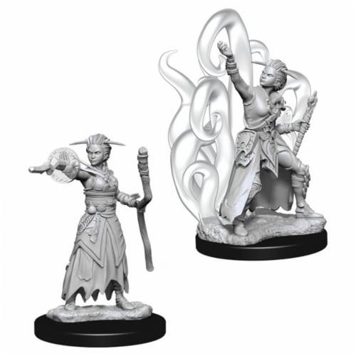 WizKids Dungeons & Dragons Nolzurs Marvelous-Female Human Warlock W10 Miniature Perspective: front