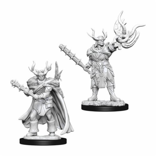 WizKids WZK73853 Pathfinder Battles Deep Cuts-Male Half-Orc Druid W10 Miniature Perspective: front